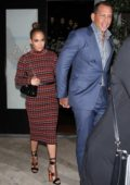 Jennifer Lopez and Alex Rodriguez leaves after dinner at Osteria Mozza restaurant in West Hollywood, Los Angeles