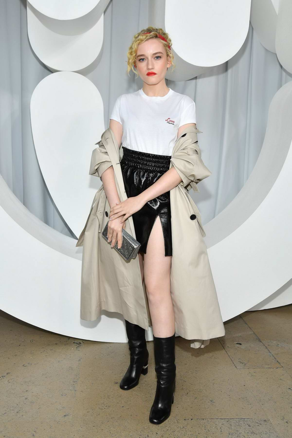 Julia Garner attending Miu Miu Show during Paris Fashion Week in Paris, France