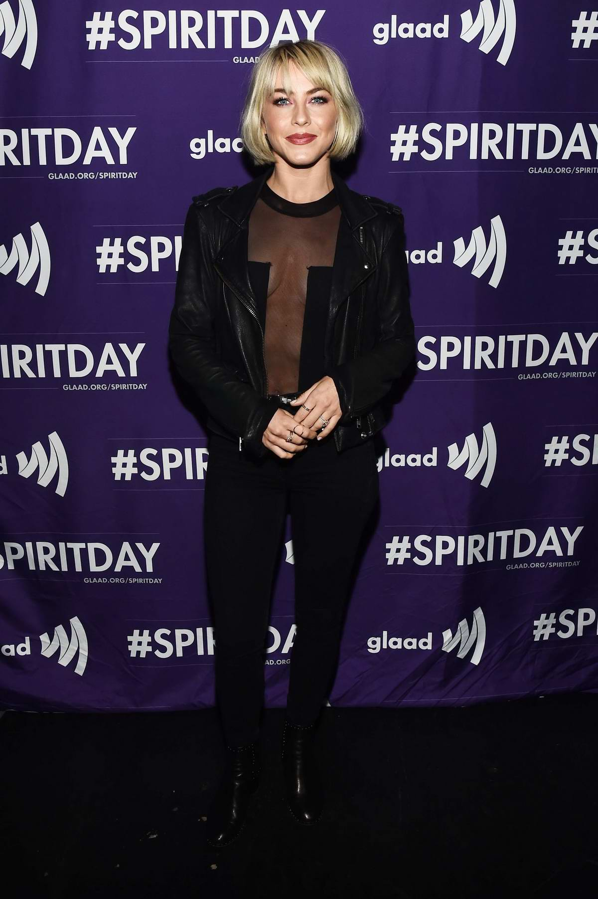 Julianne Hough attends GLAAD Present 'BEYOND' Spirit Day Concert in Hollywood, Los Angeles