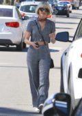 Julianne Hough wears a chic two piece ensemble as she runs errands in Los Angeles
