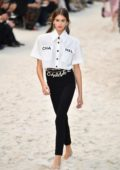 Kaia Gerber, Grace Elizabeth and Hannah Ferguson Walks the runway for the Chanel show during Paris Fashion Week in Paris, France
