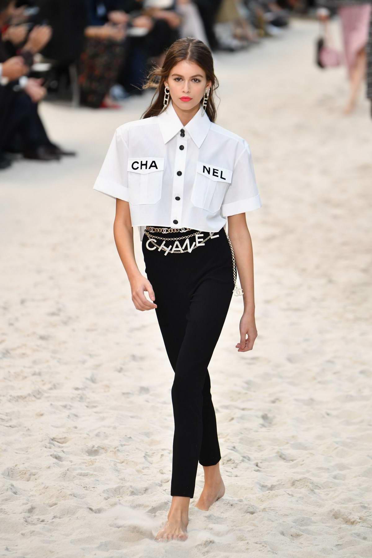 Kaia Gerber, Grace Elizabeth and Hannah Ferguson Walks the runway for the Chanel show during Paris Fashion Week in Paris, France