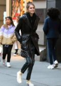 Kaia Gerber is all smiles while out shopping with a friend in Manhattan's SoHo neighborhood, New York City