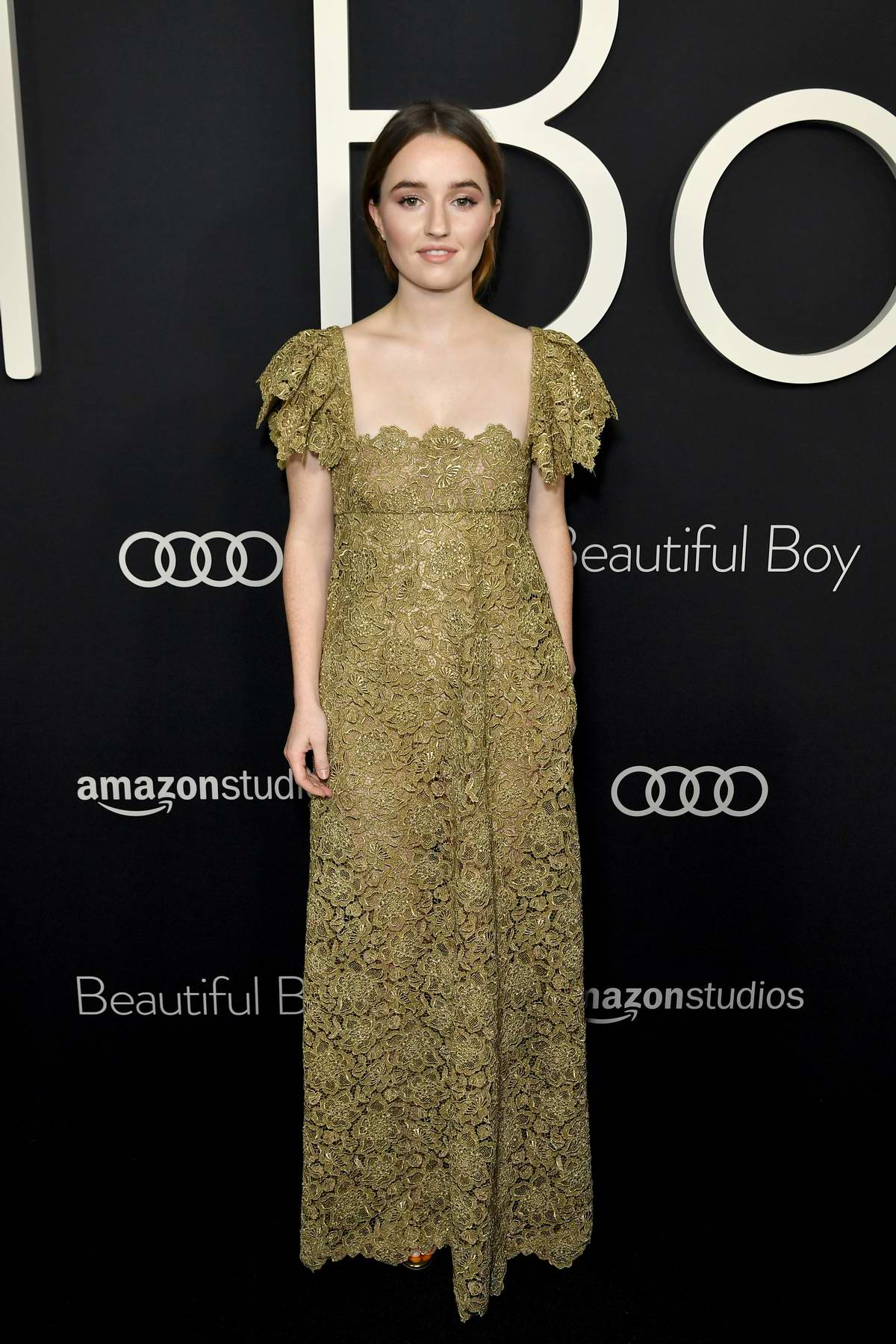 Kaitlyn Dever attends the premiere of 'Beautiful Boy' at Samuel Goldwyn Theater in Beverly Hills, Los Angeles