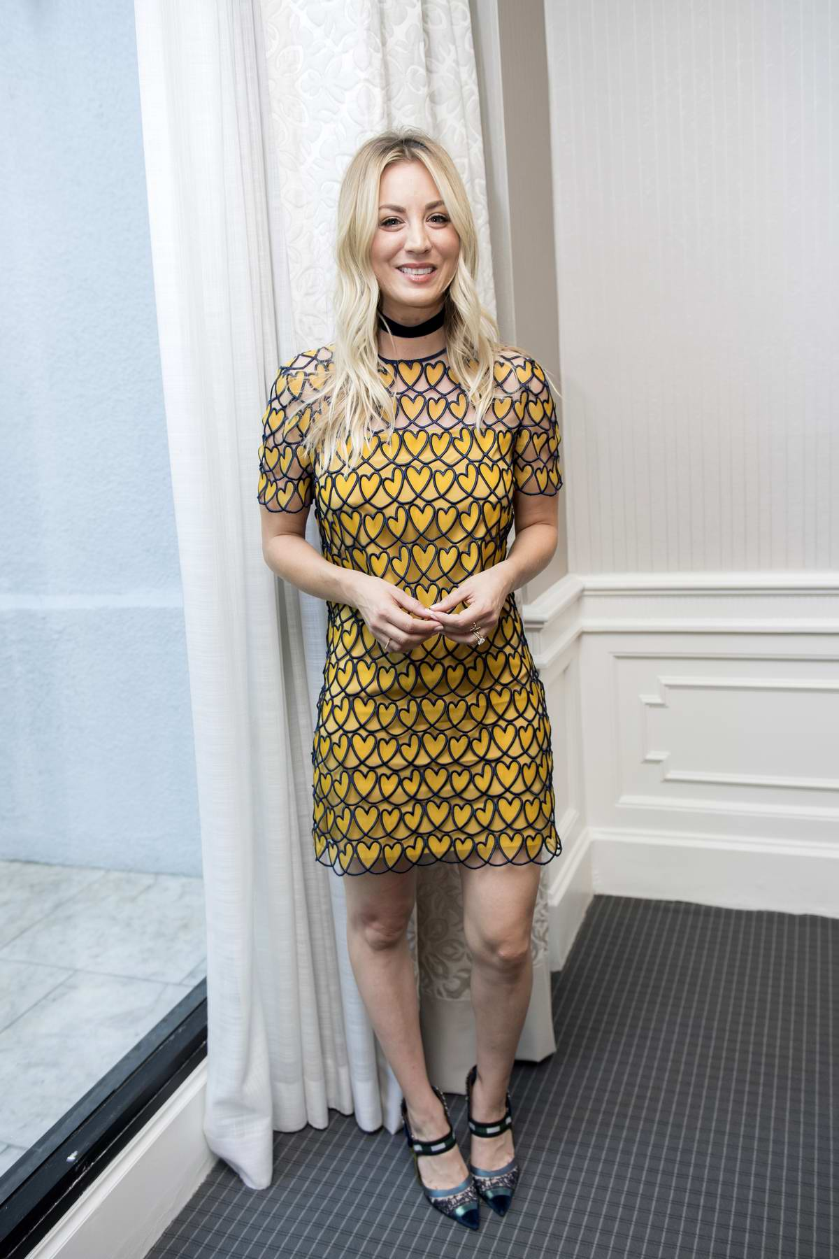Kaley Cuoco at The Big Bang Theory Press Conference at the London Hotel in West Hollywood, Los Angeles