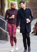 Karlie Kloss is all smiles while out for coffee with husband Joshua Kushner in New York City