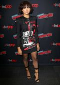 Kat Graham attends 'Rise Of The Teenage Mutant Ninja Turtles' photocall during New York Comic Con 2018 (NYCC 2018) in New York City