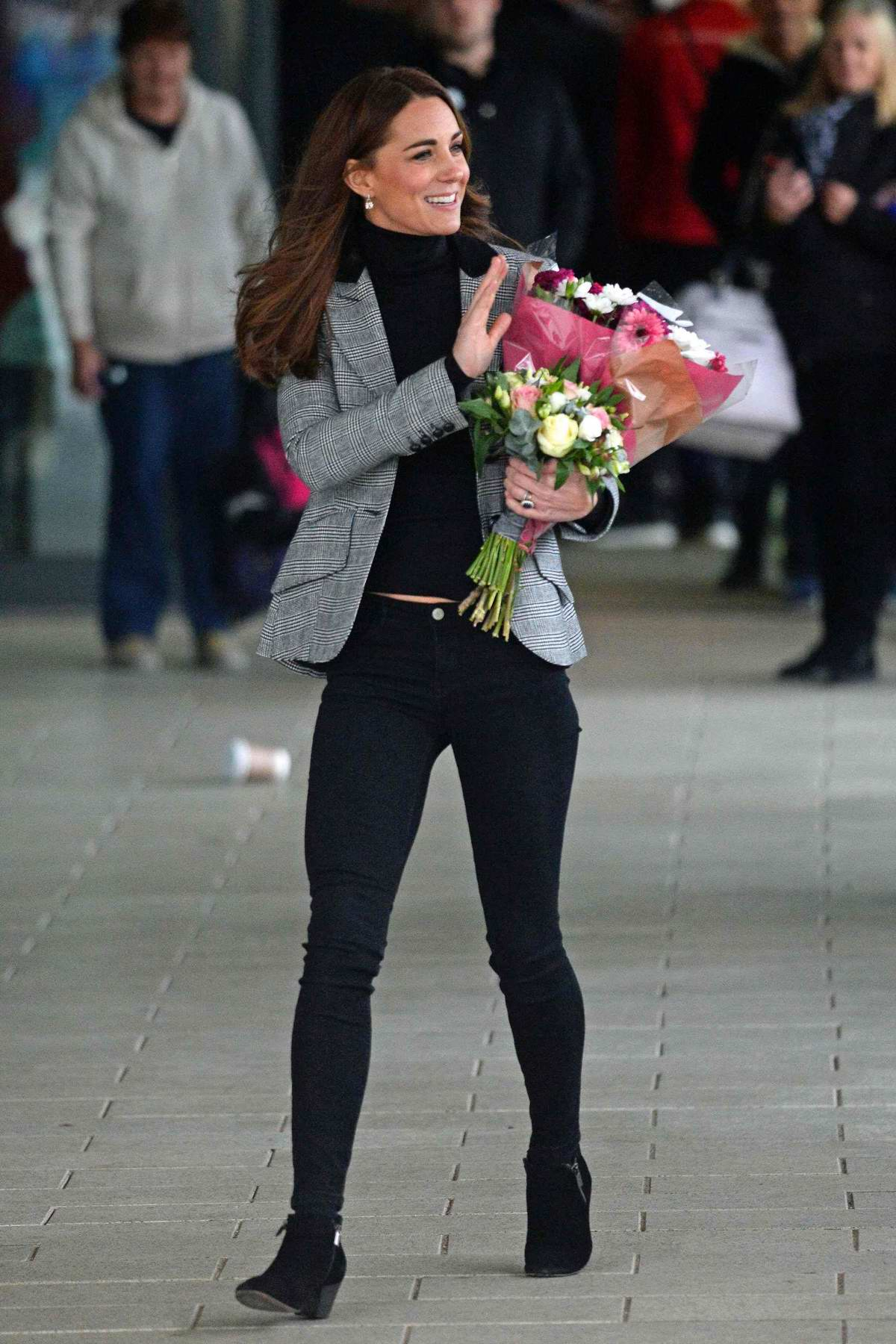 Kate Middleton visits the Basildon Sporting Village in Basildon, Essex, UK
