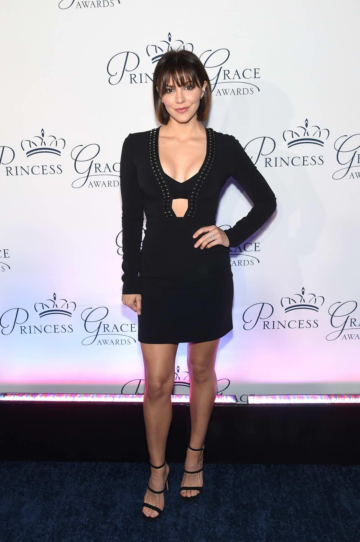 Katharine McPhee attends 2018 Princess Grace Awards Gala at Cipriani 25 Broadway in New York City