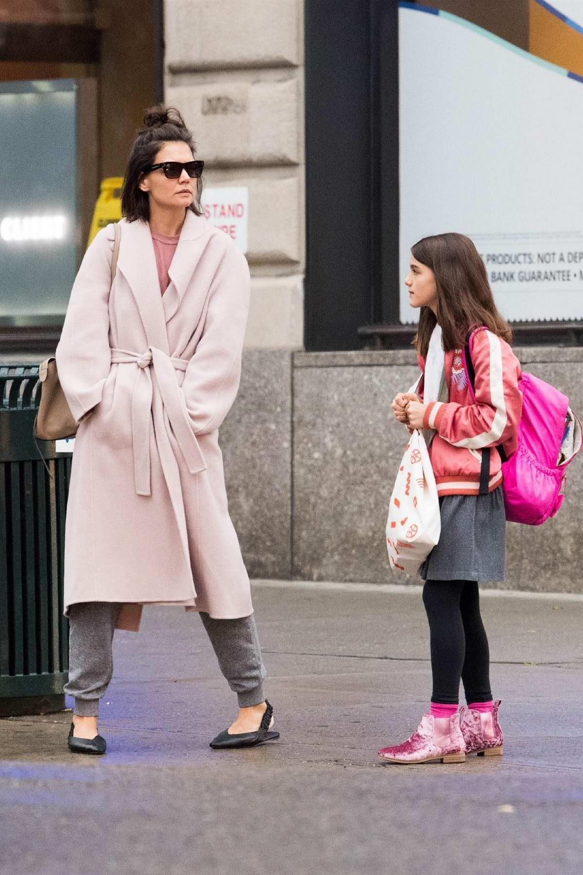 Katie Holmes and daughter Suri Cruise seen out and about in New York City