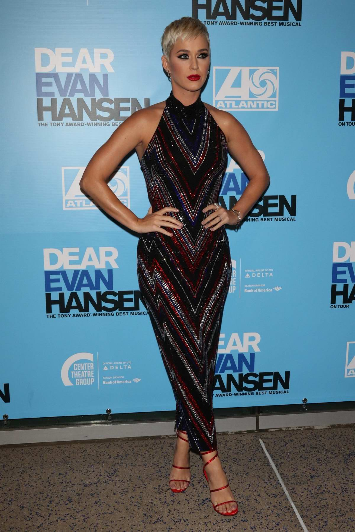 Katy Perry at the Opening Night Performance of 'Dear Evan Hansen' at Ahmanson Theatre in Los Angeles
