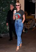 Katy Perry wears a Lionel Richie t-shirt while exiting Kelly and Ryan Show in New York City