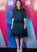 Keira Knightley attends the 'Screen Talks' at the 62nd BFI London Film Festival in London, UK
