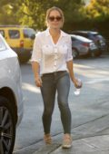Kendra Wilkinson takes her daughter for a movie in Calabasas, California