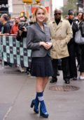 Kiernan Shipka arrives to promotes 'Chilling Adventures Of Sabrina' at AOL Build Series Studios in New York City