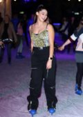 Kira Kosarin attends The Natural History Museum Ice Rink VIP Launch Night in London, UK