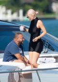 Kylie Jenner spotted on a yacht with friends at Miami Beach, Florida