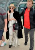 Kylie Minogue arrives at Dublin airport ahead of her performance at the 3Arena in Dublin, Ireland
