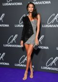 Lais Ribeiro attends the CR Fashion Book x Luisasaviaroma photocall during Paris Fashion Week in Paris, France