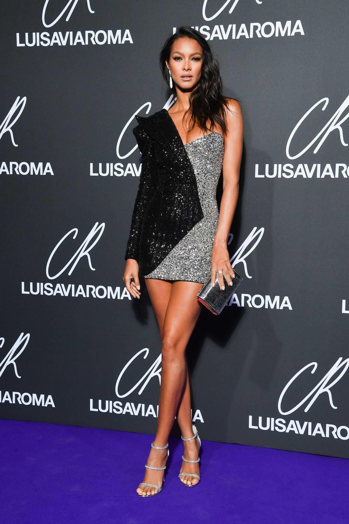 Lais Ribeiro attends the CR Fashion Book x Luisasaviaroma photocall during Paris Fashion Week in Paris, France