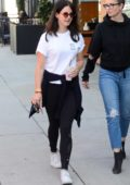 Lana Del Rey grabs a juice from Joe & The Juice while out with her friends in Beverly Hills, Los Angeles