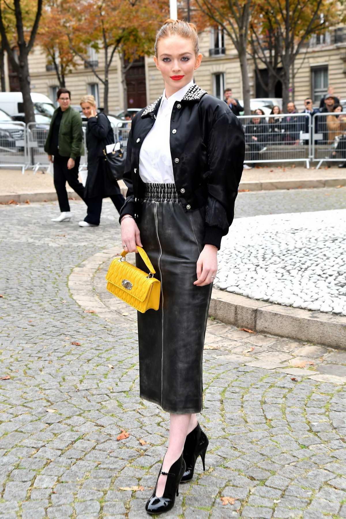 Larsen Thompson attending Miu Miu Show during Paris Fashion Week in Paris, France