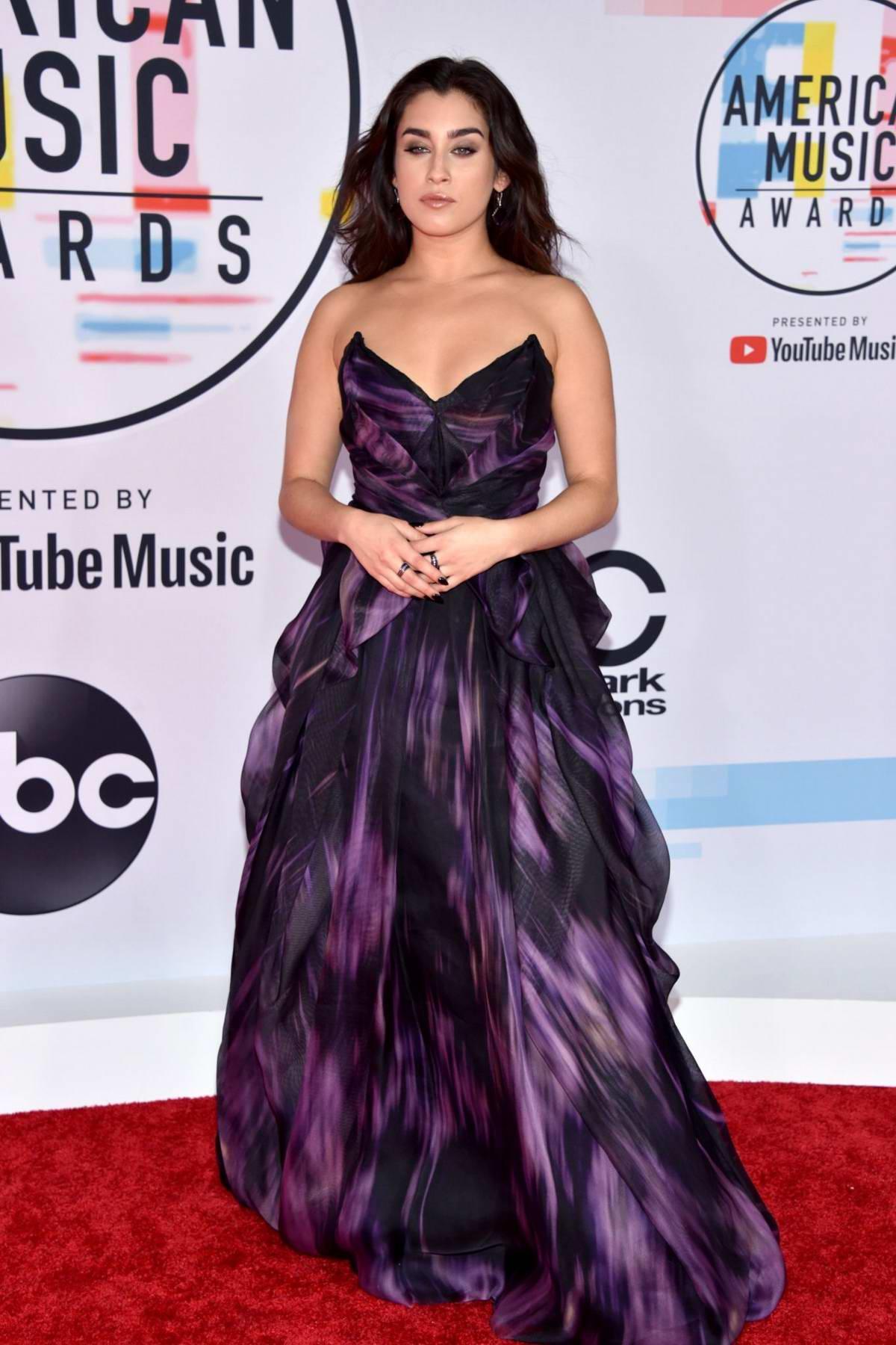 Lauren Jauregui attends 2018 American Music Awards (AMA 2018) at Microsoft Theater in Los Angeles