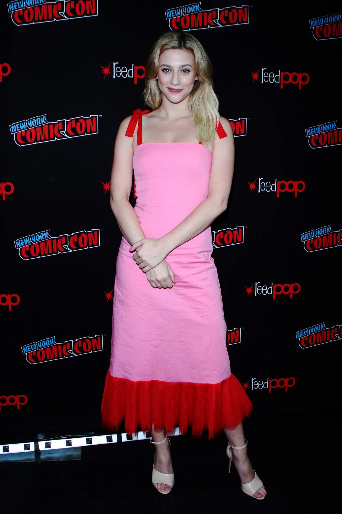 Lili Reinhart attends 'Riverdale' photocall at New York Comic Con 2018 (NYCC 2018) in New York City
