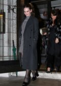 Lily James and Matt Smith seen leaving 34 Restaurant in Mayfair, London, UK