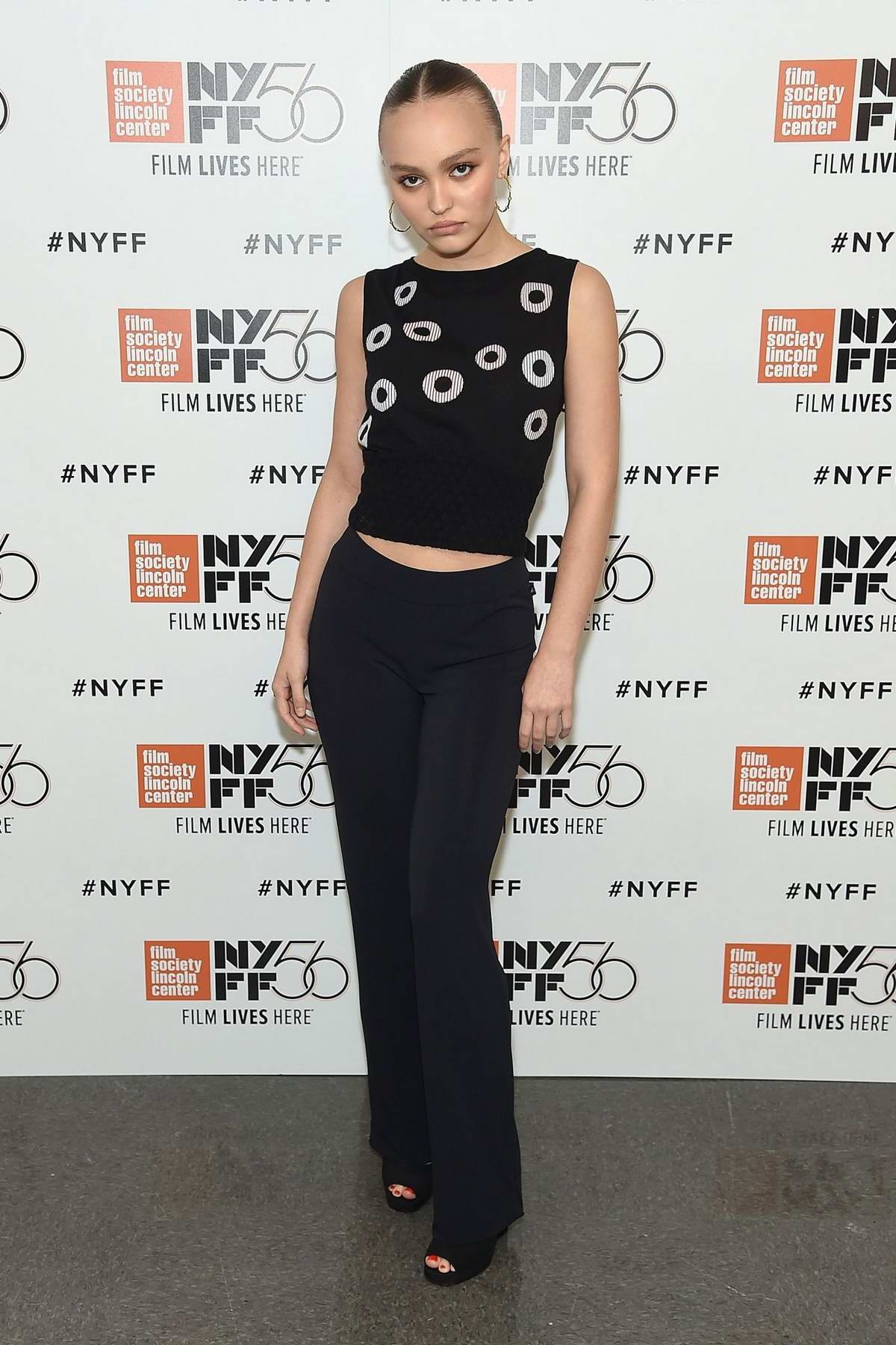 Lily-Rose Depp attends the screening of 'A Faithful Man' during 56th New York Film Festival (NYFF56) in New York City