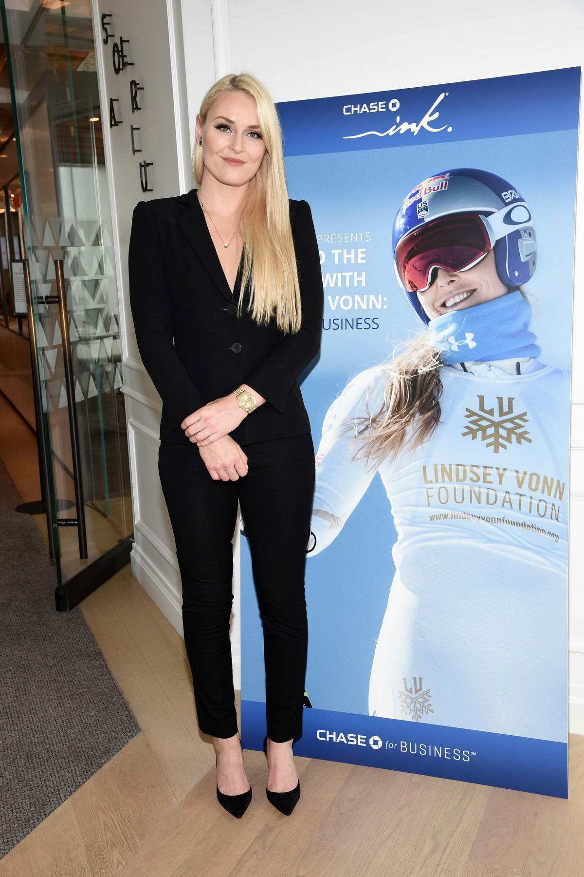 Lindsey Vonn at the Collaboration with Chase Ink 'Beyond the Slopes with Lindsey Vonn: A Small Business Event' in New York City
