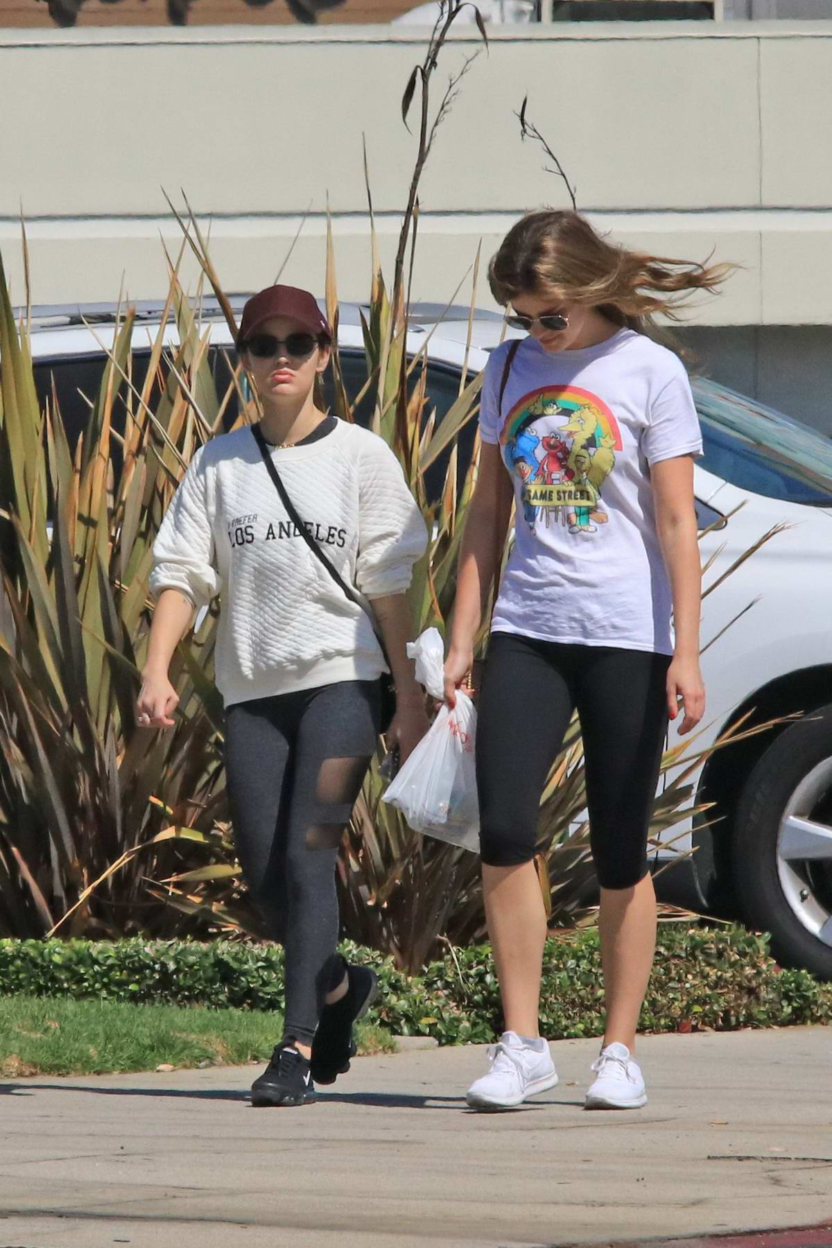 Lucy Hale spotted out shopping with a friend in Los Angeles
