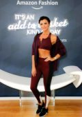 Lucy Mecklenburgh attends the Amazon Fashion Pop-Up Shop Live Yoga with Ella Mills in London, UK