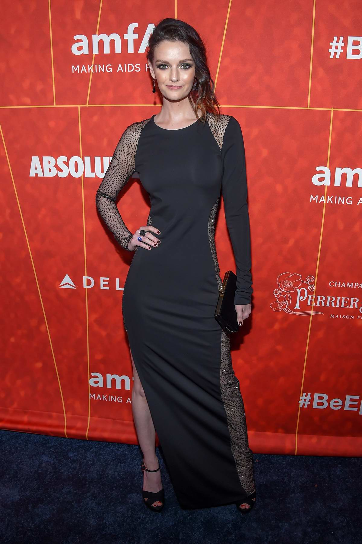 Lydia Hearst attends 2018 amfAR Inspiration Gala at Wallis Annenberg Center for the Performing Arts in Beverly Hills, Los Angeles