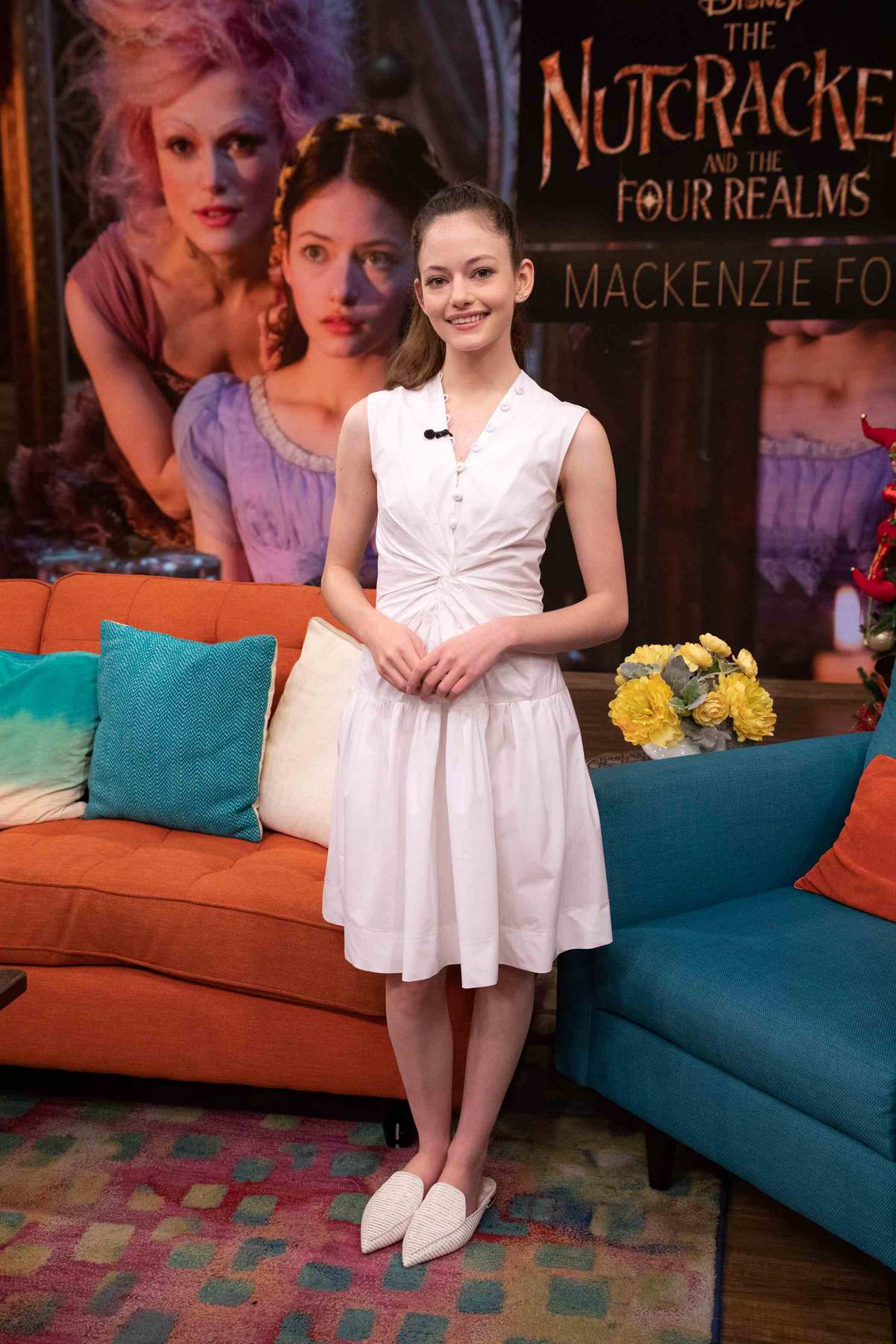 Mackenzie Foy promotes her upcoming movie 'The Nutcracker And The Four Realm' on Despierta America in Miami, Florida