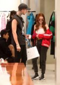 Madelaine Petsch and Travis Mills shop at Balenciaga on Rodeo Drive in Beverly Hills, Los Angeles