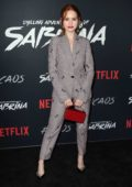 Madelaine Petsch attends Netflix Original Series 'Chilling Adventures of Sabrina' red carpet and premiere event in Los Angeles