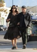 Mandy Moore steps out for a romantic stroll with fiance Taylor Goldsmith in Highland Park, California