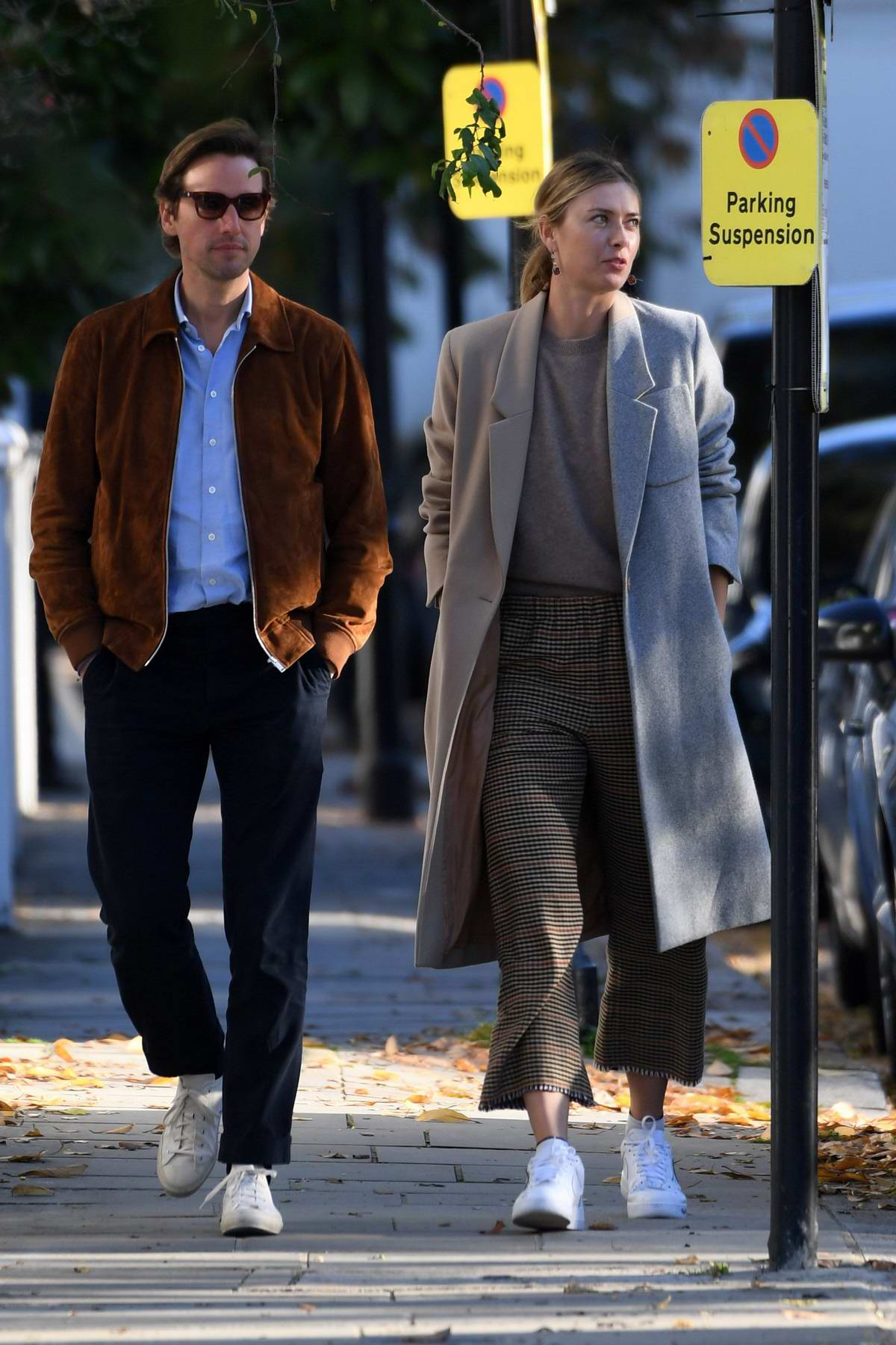 Maria Sharapova steps out for a walk with new boyfriend Alexander Gilkes in Fulham, UK