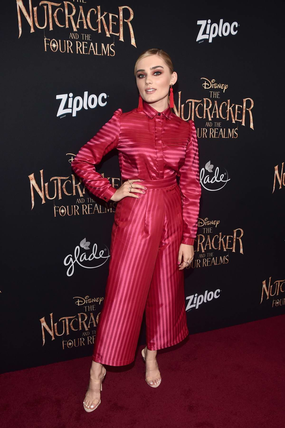 Meg Donnelly attends the World Premiere of Disney's 'The Nutcracker And The Four Realms' at Hollywood's El Capitan Theatre in Los Angeles