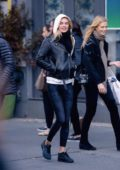 Megan Williams and Nadine Leopold steps out out for shopping in New York City