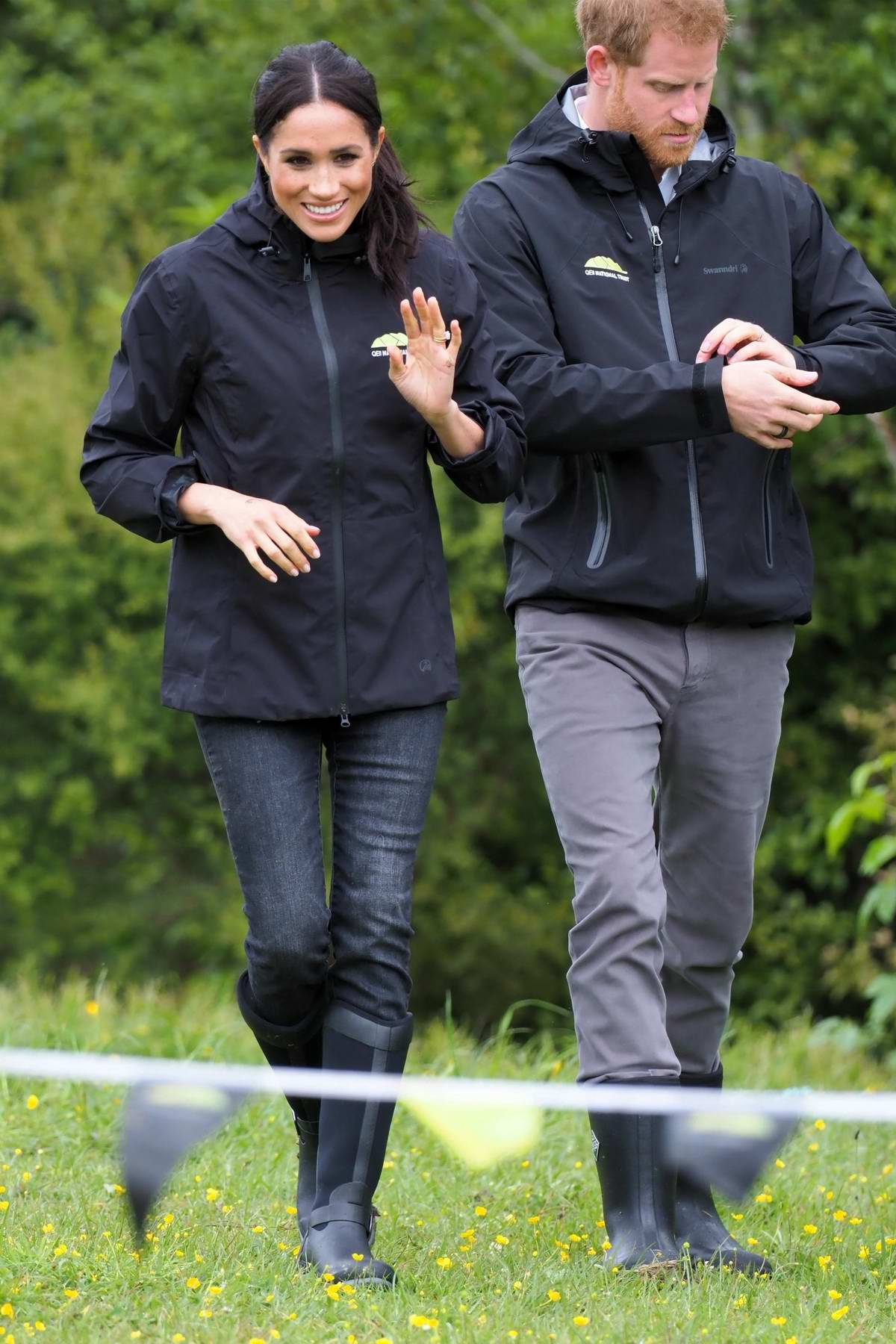 Meghan Markle and Prince Harry attends a dedication of a 20-hectare site to the Queen's Commonwealth Canopy in Auckland, New Zealand