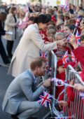 Meghan Markle and Prince Harry greets everyone as they arrive at Royal Pavilion in Brighton, UK