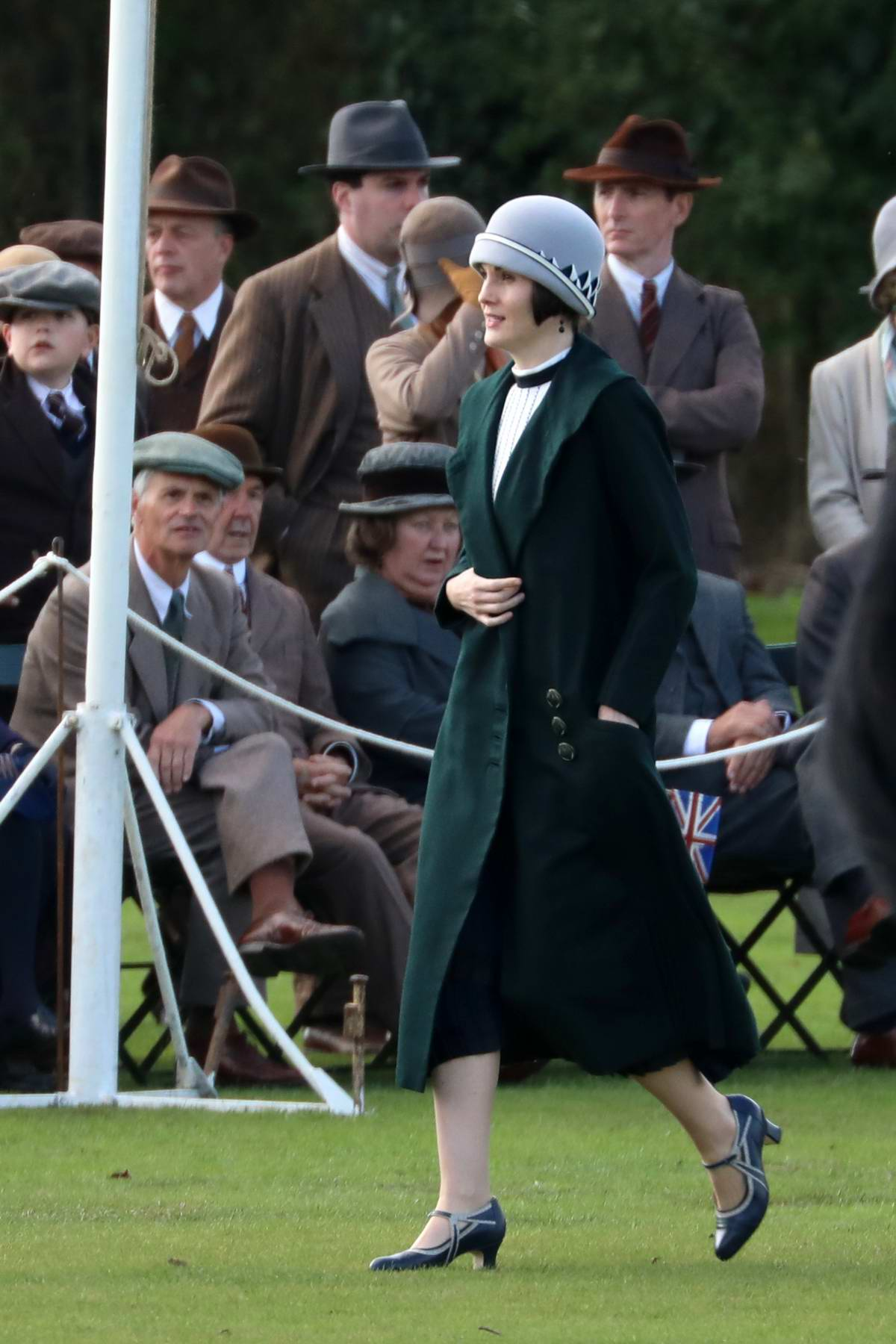 Michelle Dockery spotted on set of the 'Downton Abbey' movie in Bath, UK