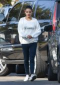 Mila Kunis spotted while leaving a friends house in Los Angeles
