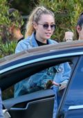 Miley Cyrus seen leaving Soho House with a group of friends in Malibu, California