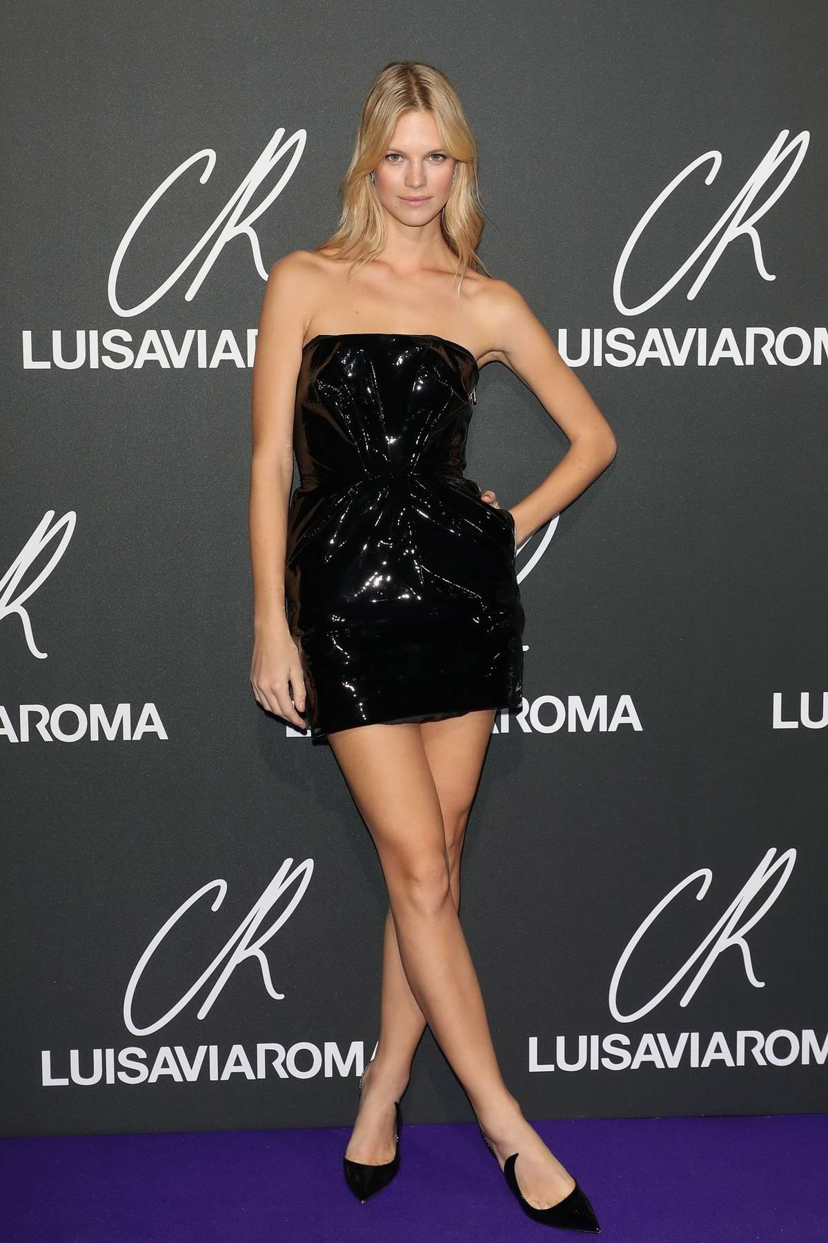 Nadine Leopold attends the CR Fashion Book x Luisasaviaroma photocall during Paris Fashion Week in Paris, France