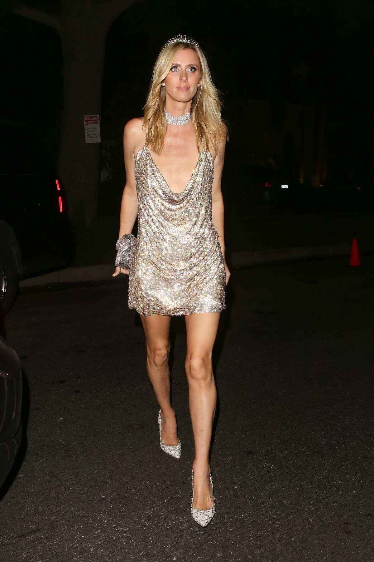 Nicky Hilton attends the Casamigos Halloween Party with her family in Beverly Hills, Los Angeles