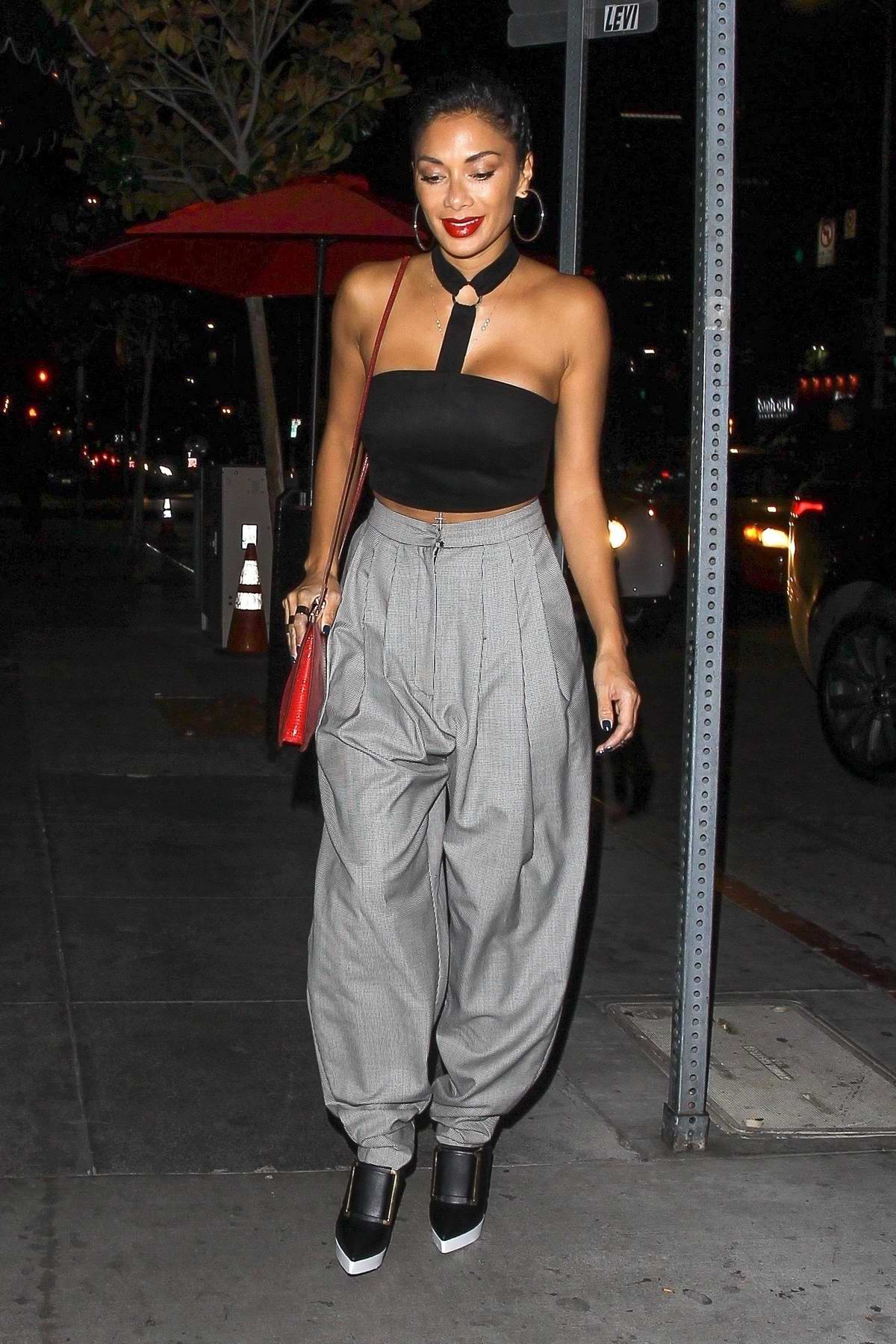 Nicole Scherzinger arrives for dinner at Beauty & Essex in Hollywood, Los Angeles