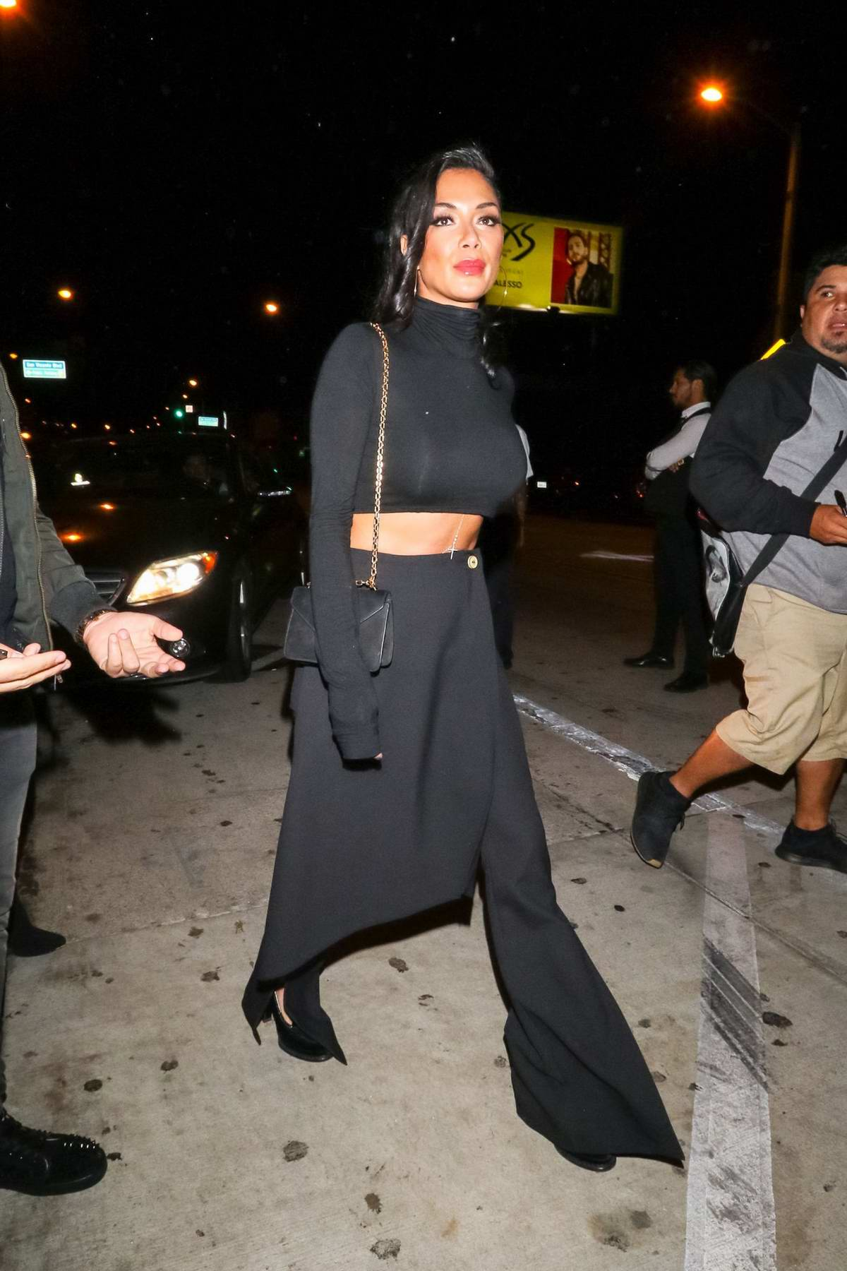 Nicole Scherzinger spotted in an all black outfit as she leaves Catch restaurant in Los Angeles
